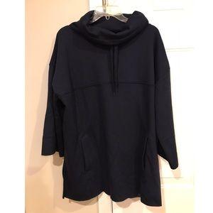 UGG Fleece Navy Poncho Sweatshirt